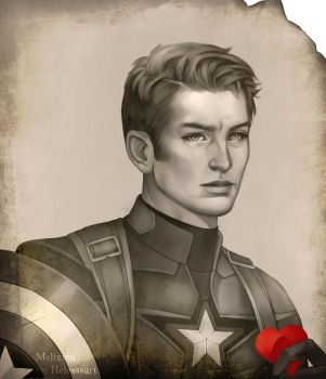 Captain America for Helesssart by Melixion