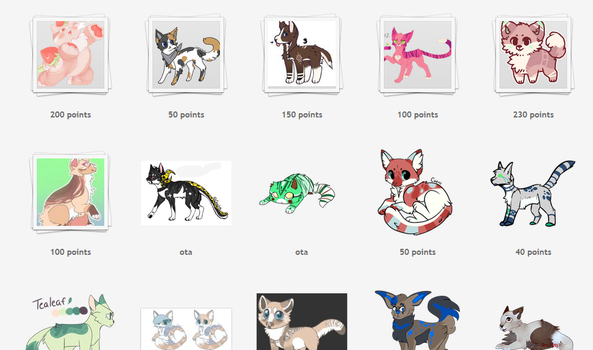 Selling Characters (link in desc)Open added more!! by CattyAngel