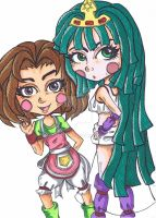 Ephemeral Fantasia: Lorielle and Rina by curlycuh