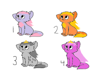 Kitten Adoptables by candyland21