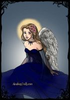 Angel with a Blue Dress On by LadyIlona1984