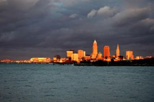 Cleveland Ohio in Gold by TomKilbane