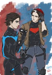 Nightwing and Red Hood by SilasSamle