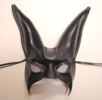 Black Leather Rabbit Mask by teonova