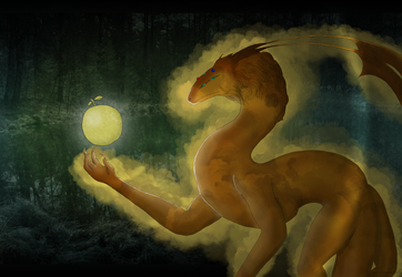 Serpent and Apple by Vexorum