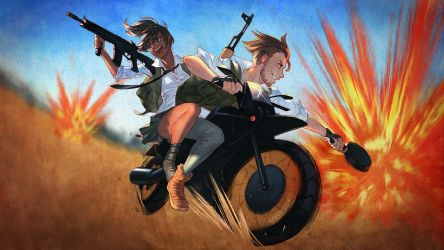 PUBG: Circles Are Red, Circles Are Blue by nakanoart
