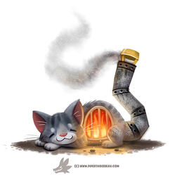 Daily Paint #1248. Fur-nace by Cryptid-Creations