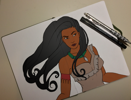 Digital Colour of Traditional Pocahontas by DaliteDraws