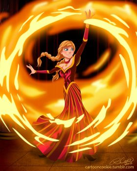 Firebender Anna by racookie3