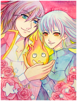 Howl and Sophie by Firefly-Raye