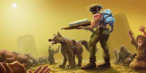 Wastelander - The Man with Water by LucasZebroski