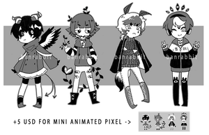 [Set Price] Monochrome Adopts [CLOSED] by n-emone