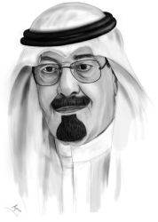 King Abdullah by Shallwe