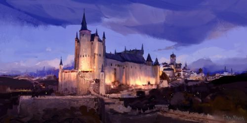 Castle Sketch by fmacmanus
