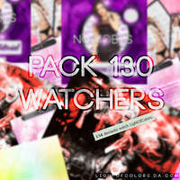 -Mega Pack 1OO WATCHERS | Previa Fea XDD | Arely~. by LightOfColors