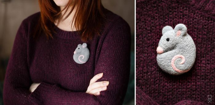 brooch Mouse by Mimiori