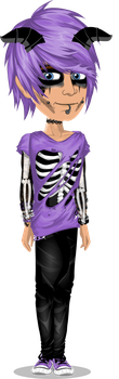 me in emo clothes by Rickgaming
