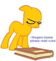 earth pony trying to levitate book: base by feegsie-bases