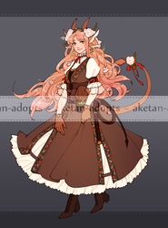 DnD - Flowermane Tiefling Auction [CLOSED] by aketan-adopts