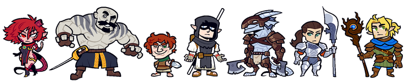 COMMISSION: DnD Group 8 by Cubesona