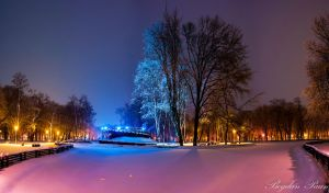Winter in the park Roman by b0gdanp