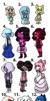 Character Inspired Pearls Adopts OPEN 14/14 by Krzydoll