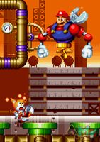 [Shitpost] Mario as Meter Droid - Sonic Mania by AsuharaMoon