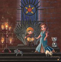 Game of Thrones: Tommen Baratheon and Margaery by Hadibou