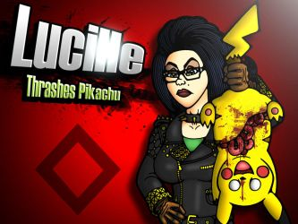 Lucy Thrashes Pikachu by Smacketeer