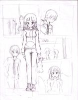 Comic page - sketch by akio2a