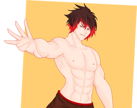 Neat half body commission: Akihiro by BrokenDoll777