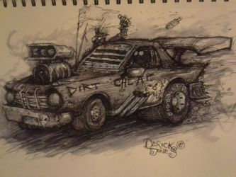Dirt Cheap (a Mad Max inspired vehicle) by butchRbill