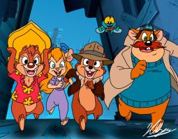 Chip n' Dale Rescue Rangers by neoyurin