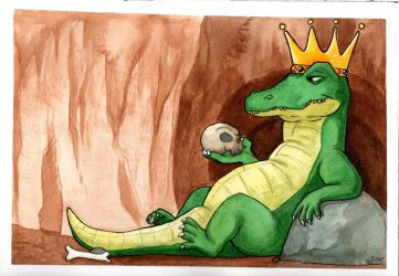 Watercolor 01: King Croc by LilBruno