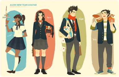 New team Avatar school style part2 by freestarisis