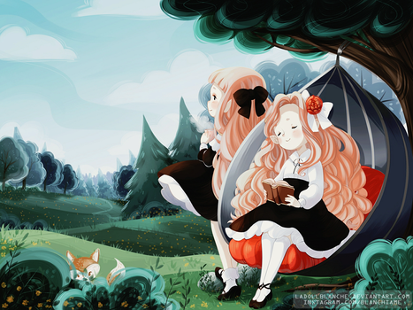 Maevie and Linnea Illust by LaDollBlanche