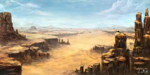 Desert landscape by rambled