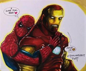 Spidey and Iron Man by olybear