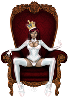 Queen in White by Delfine-S-Kanashii