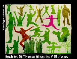 BrushSet 46 - HumanSilhouettes by punksafetypin
