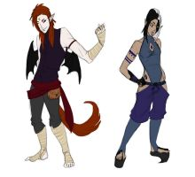 Magienc OCs - Turk and Nymphy by Ashealath