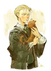 Draco and cat Potter by huanGH64