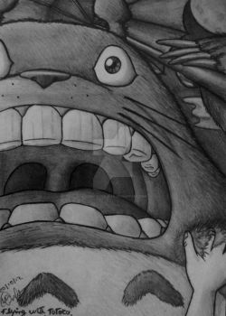 let's scream together (flying with totoro) by cinemaniacojean