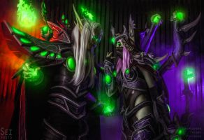 HotS - Master Sylvanas and Master Kael'thas 4 by Feyische