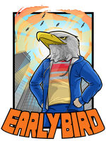 Early Bird T-Shirt Design by An0nym0useArt