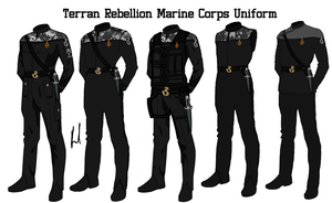 Terran Rebellion Marine Corps Uniform by docwinter