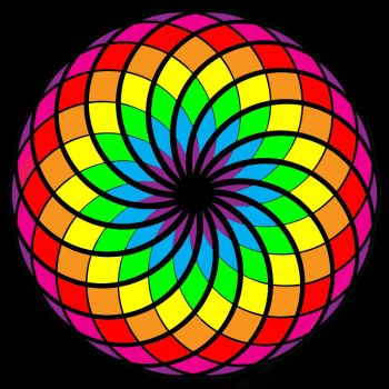Spirograph Rainbow 2 by Lily-the-pink