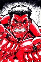 Red Hulk: Tampa Con commission by ToddNauck