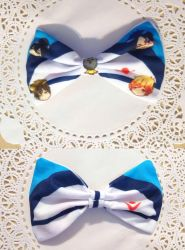 Iwatobi inspired chibi bow by fullmoonnightonigiri