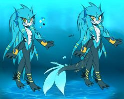 Hydra Seleana -Super Form- 70% Kick Tailfin by SelanaireQueen